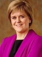 Nicola Sturgeon leader of the SNP